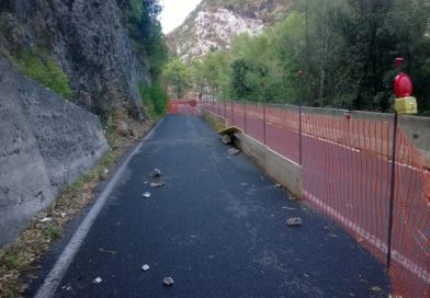 Lavori in corso a Montecastrilli sulla strada provinciale 35