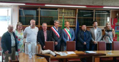 La delegazione di Toulon sur Arroux ricevuta nel Municipio di Avigliano