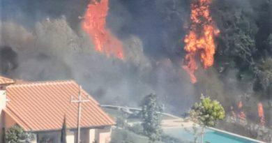Incendio nel primo pomeriggio a Fornole